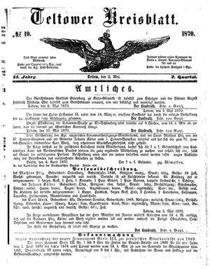 Teltower Kreisblatt vom 11.05.1870