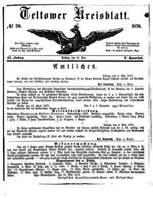 Teltower Kreisblatt vom 18.05.1870
