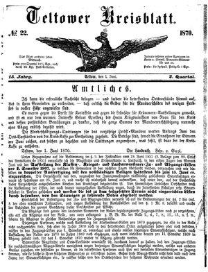 Teltower Kreisblatt vom 01.06.1870