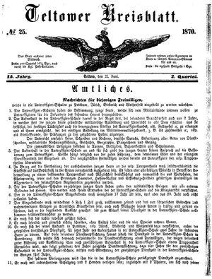 Teltower Kreisblatt vom 21.06.1870