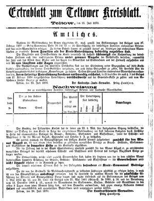 Teltower Kreisblatt vom 25.07.1870