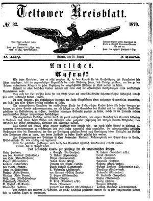 Teltower Kreisblatt on Aug 10, 1870