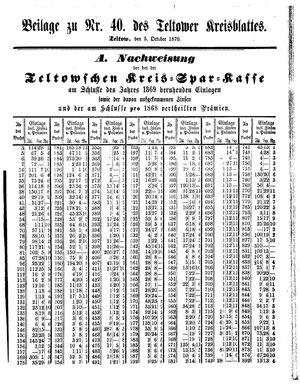 Teltower Kreisblatt vom 05.10.1870