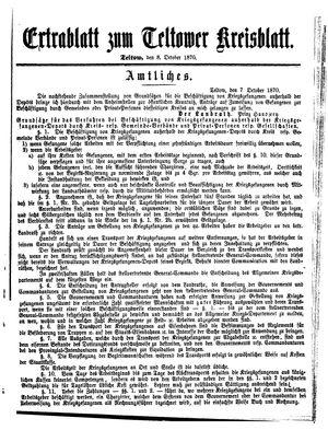 Teltower Kreisblatt vom 08.10.1870