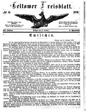 Teltower Kreisblatt on Oct 12, 1870