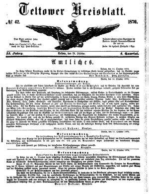 Teltower Kreisblatt on Oct 19, 1870