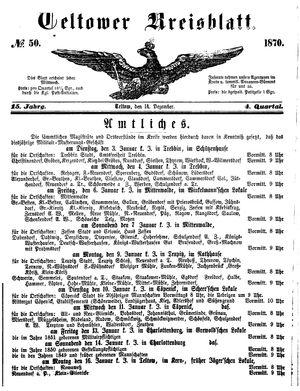 Teltower Kreisblatt vom 14.12.1870