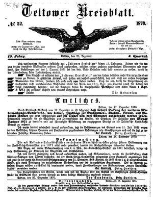 Teltower Kreisblatt vom 28.12.1870