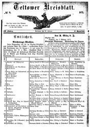 Teltower Kreisblatt (22.02.1871)