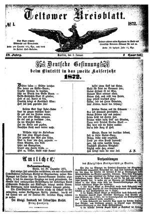 Teltower Kreisblatt vom 03.01.1872