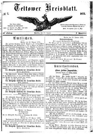 Teltower Kreisblatt vom 23.01.1872