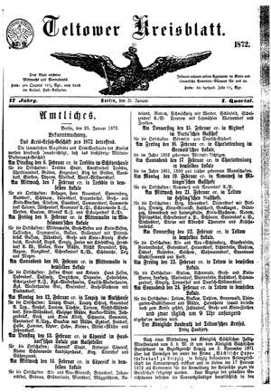Teltower Kreisblatt vom 31.01.1872