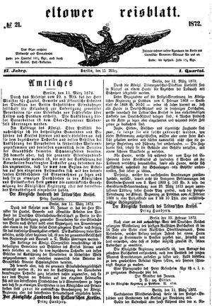 Teltower Kreisblatt vom 13.03.1872