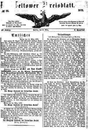 Teltower Kreisblatt vom 16.03.1872