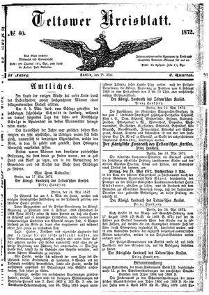 Teltower Kreisblatt vom 18.05.1872