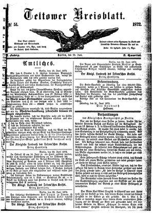 Teltower Kreisblatt vom 26.06.1872