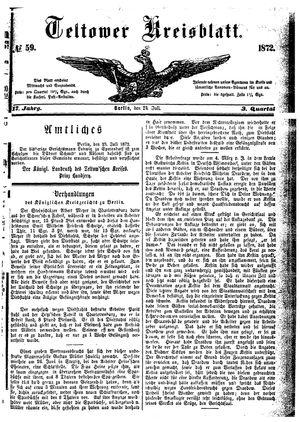 Teltower Kreisblatt vom 24.07.1872