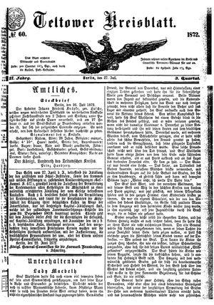 Teltower Kreisblatt on Jul 27, 1872