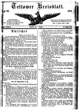 Teltower Kreisblatt vom 03.08.1872