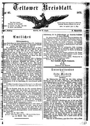 Teltower Kreisblatt vom 21.08.1872