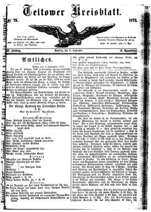 Teltower Kreisblatt vom 11.09.1872