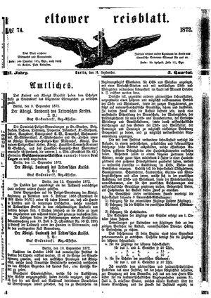 Teltower Kreisblatt vom 14.09.1872
