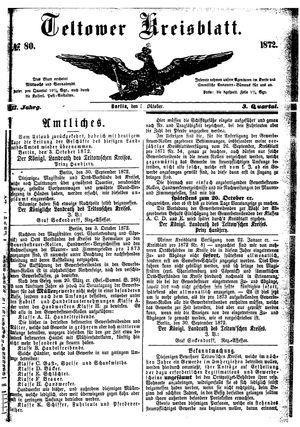 Teltower Kreisblatt vom 05.10.1872