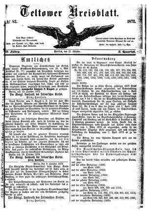 Teltower Kreisblatt vom 12.10.1872