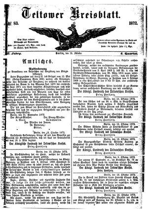 Teltower Kreisblatt vom 16.10.1872