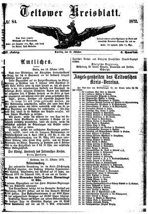Teltower Kreisblatt vom 19.10.1872