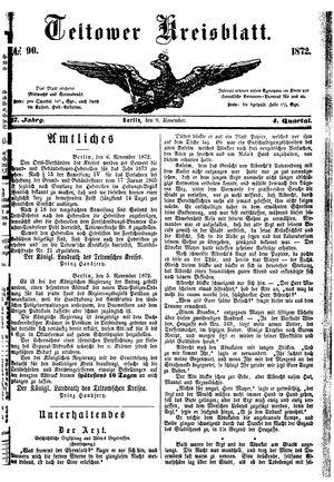 Teltower Kreisblatt vom 09.11.1872