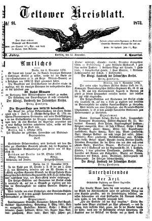 Teltower Kreisblatt vom 13.11.1872