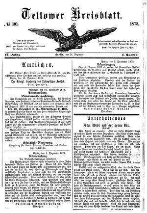 Teltower Kreisblatt vom 18.12.1872