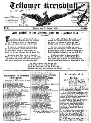 Teltower Kreisblatt on Jan 1, 1873