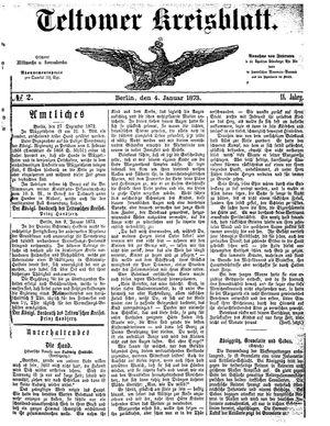 Teltower Kreisblatt vom 04.01.1873
