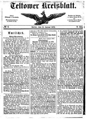 Teltower Kreisblatt vom 11.01.1873
