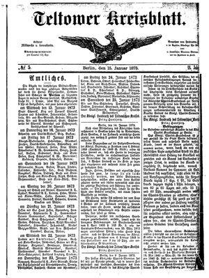 Teltower Kreisblatt on Jan 15, 1873