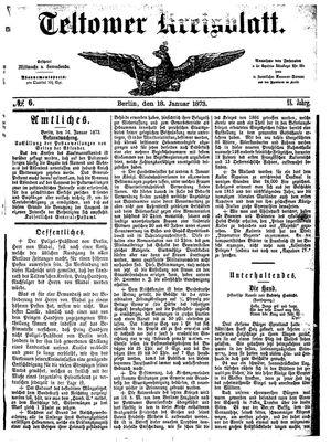 Teltower Kreisblatt vom 18.01.1873