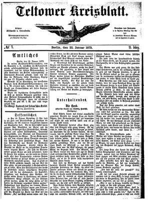 Teltower Kreisblatt on Jan 22, 1873