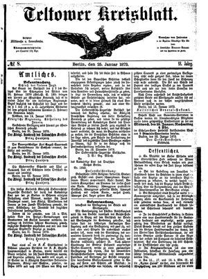 Teltower Kreisblatt vom 25.01.1873