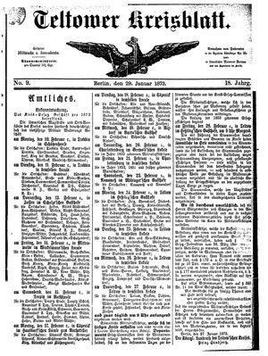 Teltower Kreisblatt vom 29.01.1873