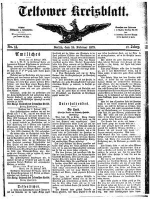 Teltower Kreisblatt vom 19.02.1873