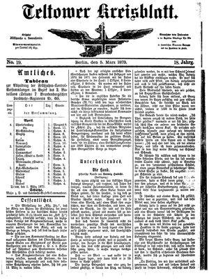Teltower Kreisblatt vom 05.03.1873