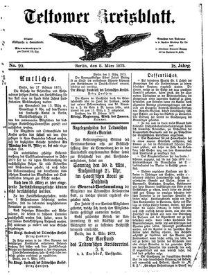 Teltower Kreisblatt vom 08.03.1873