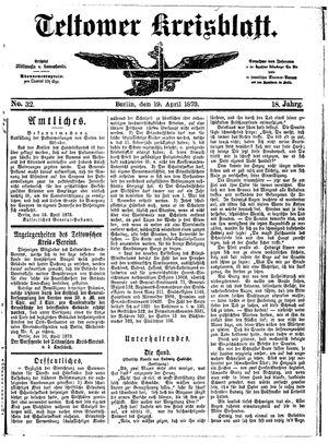 Teltower Kreisblatt vom 19.04.1873