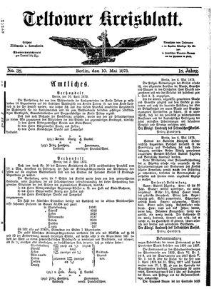 Teltower Kreisblatt vom 10.05.1873