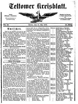 Teltower Kreisblatt on May 14, 1873