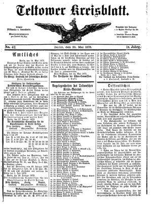 Teltower Kreisblatt vom 24.05.1873