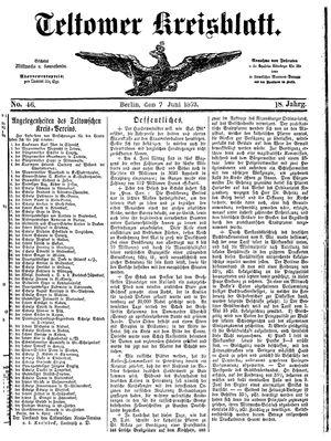 Teltower Kreisblatt on Jun 7, 1873