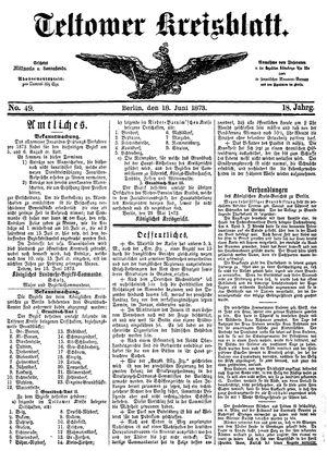 Teltower Kreisblatt vom 18.06.1873